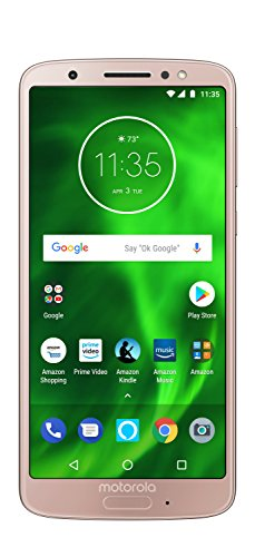 Moto G6 - 32 GB - Unlocked (AT&T/Sprint/T-Mobile/Verizon) - Oyster Blush - Prime Exclusive Phone