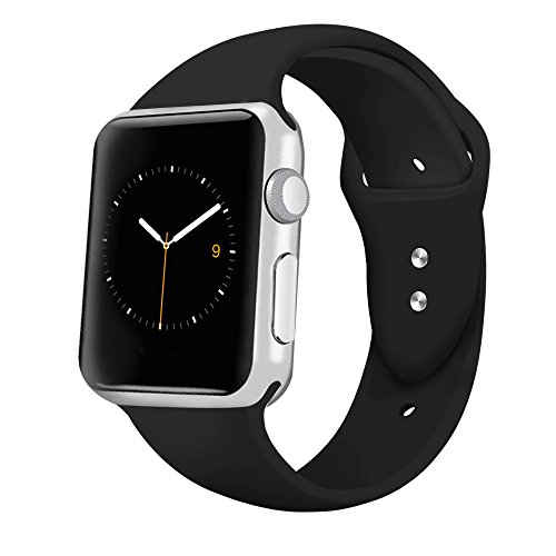 iGK Sport Band Compatible for Apple Watch 42mm 38mm, Soft Silicone Sport Strap Replacement Bands Compatible for iWatch Apple Watch Series 3, Series 2, Series 1