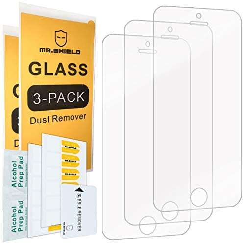 Mr.Shield-[3-Pack for iPhone SE/iPhone 5/5S / iPhone 5C [Tempered Glass] Screen Protector with Lifetime Replacement Warranty