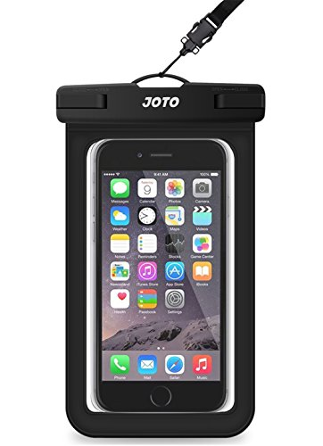 "Universal Waterproof Case, JOTO CellPhone Dry Bag Pouch for Apple iPhone 6S, 6, 6S Plus, SE, 5S, Samsung Galaxy S7, S6 Note 7 5, HTC LG Sony Nokia Motorola up to 6.0"" diagonal -Black"