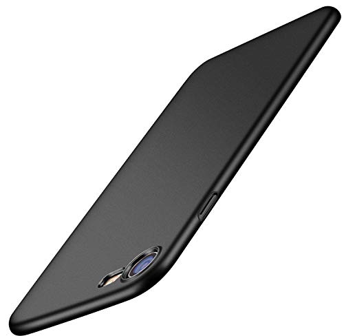 TORRAS Slim Fit iPhone 8 Case/iPhone 7 Case, Hard Plastic Full Protective Anti-Scratch Resistant Cover Case Compatible with iPhone 7 (2016)/iPhone 8 (2017), Space Black