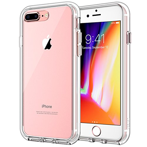 JETech Case for Apple iPhone 8 Plus and iPhone 7 Plus 5.5-Inch, Shock-Absorption Bumper Cover, Anti-Scratch Clear Back, HD Clear