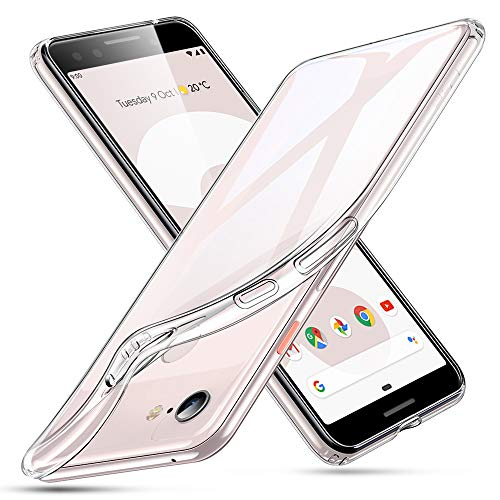 ESR Essential Zero Case Compatible for The Google Pixel 3, Slim Clear Soft TPU Cover with Cushioned Corners, Clear