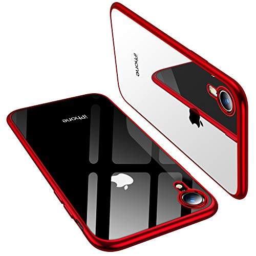 TORRAS Clear iPhone XR Case 6.1 inch, Ultra Thin Slim Fit Soft Silicone TPU Protective Cover Cases Compatible with iPhone XR, Red