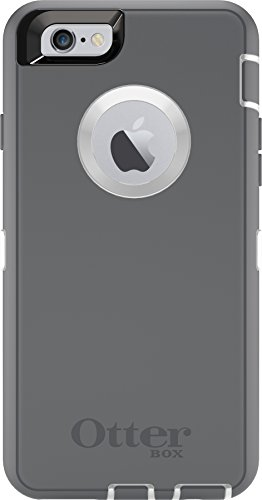 OtterBox DEFENDER iPhone 6/6s Case - Frustration Free Packaging - GLACIER (WHITE/GUNMETAL GREY)