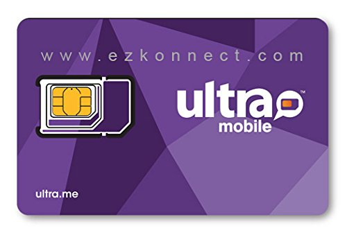 Ultra Mobile Triple Punch Regular, Micro and Nano All in one SIM Card Works on Unlocked GSM Phones Including iPhone & Android