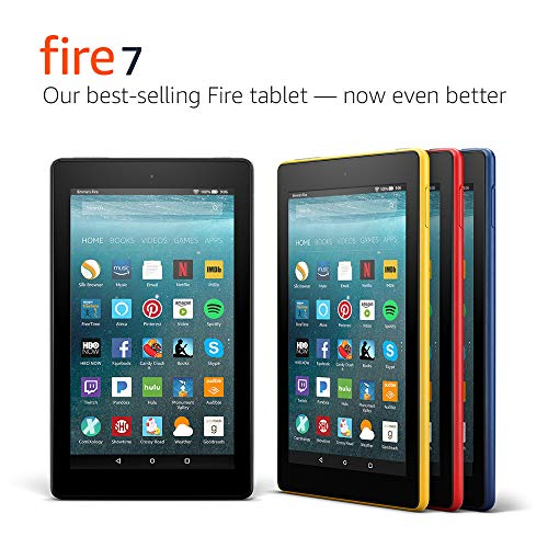 "Fire 7 Tablet with Alexa, 7"" Display, 16 GB, Canary Yellow - with Special Offers"