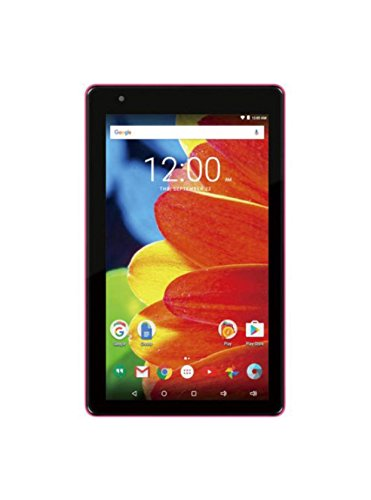 2016 Newest Premium High Performance RCA Voyager 7 16GB Touchscreen Tablet Computer Quad-Core 1.2Ghz Processor 1G Memory 16GB Hard Drive Webcam Wifi Bluetooth Android 6.0-Pink