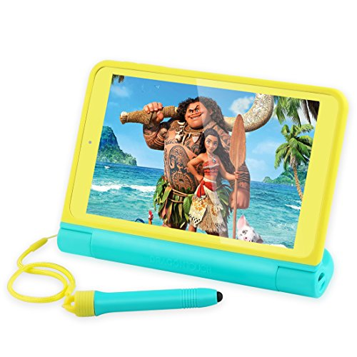 """Dragon Touch K8 Kids Tablet, 8"""" HD IPS Display 2GB RAM 16GB Nand Flash Android Tablet, Kidoz Pre-Installed with All-New Disney Content (More Than $80 Value) - Exclusively Designed Stylus"""