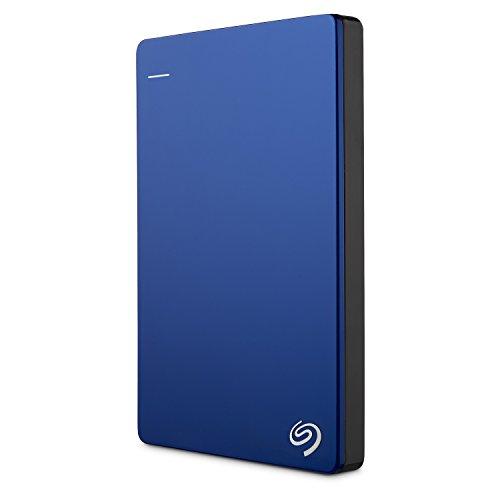 Seagate Backup Plus Slim 1TB Portable Hard Drive External USB 3.0, Blue + 2mo Adobe CC Photography (STDR1000102)