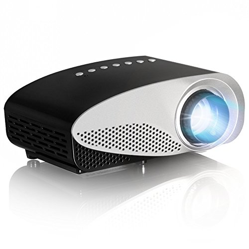 Simplebeam GP8S Mini Portable Multimedia LED Projector Home Cinema Theater Support PC VGA USB AV HDMI SD Card for Video Games TV Moive TXT Music