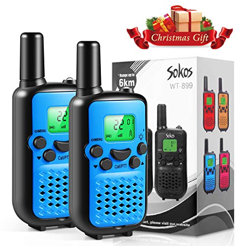 Walkie Talkies for Kids, 22 Channel Walkie Talkies 2 Way Radio 3 Miles (Up to 5Miles) Handheld Mini Walkie Talkies for Kids, Toys for 5-Year Old Boys and Girls, Ideal Present for Children