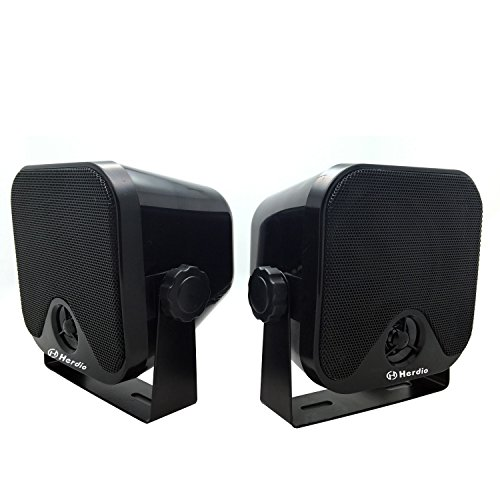 """4"""" Heavy Duty Waterproof Boat Marine Box Outdoor Speakers Surface Mounted for Skid Steer ATV UTV RZR Golf Cart Tractor Powersports Boat Truck Jeep"""