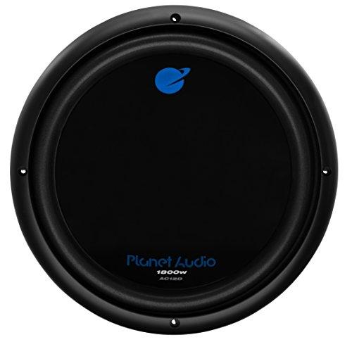 Planet Audio AC12D 1800 Watt, 12 Inch, Dual 4 Ohm Voice Coil Car Subwoofer