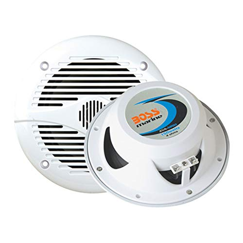 BOSS Audio MR60W 200 Watt (Per Pair), 6.5 Inch, Full Range, 2 Way Weatherproof Marine Speakers (Sold in Pairs)