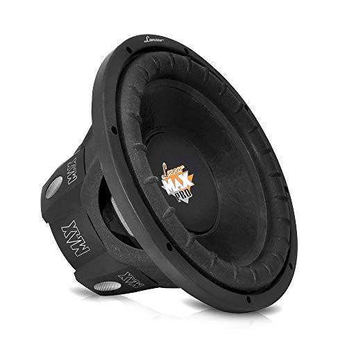Lanzar 6.5 inch Car Subwoofer Speaker - Black Non-Pressed Paper Cone, Aluminum Voice Coil, 4 Ohm Impedance, 600 Watt Power and Foam Edge Suspension for Vehicle Audio Stereo Sound System - MAXP64