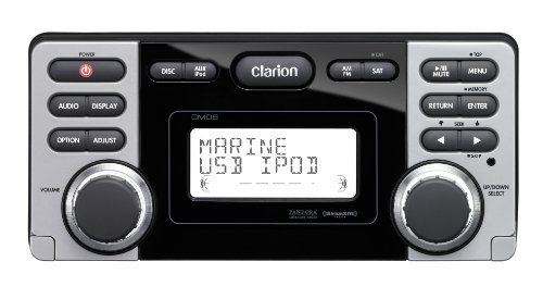 Clarion CMD8 1.8-Inch Marine CD-USB-MP3 Receiver