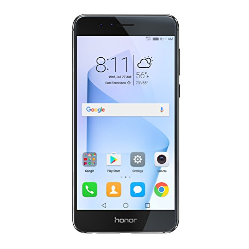 Huawei Honor 8 Unlocked Smartphone 64 GB Dual Camera - US Warranty (Midnight Black)